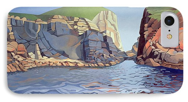 Land And Sea No I - Ramsey Island IPhone Case by Anna Teasdale