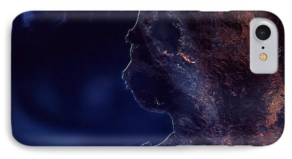 Land And Water From Satellite Phone Case by Stocktrek Images