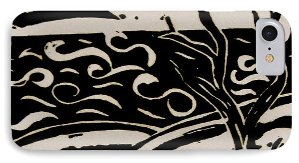 Land Sea Sky In Black And White Phone Case by Caroline Street