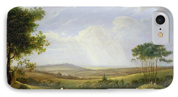 Landscape With Figures  IPhone Case by Captain Thomas Hastings
