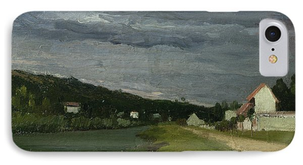 Landscape With Stormy Sky Phone Case by Camille Pissarro