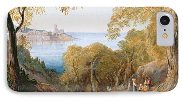 Landscape With View Of Lerici Phone Case by Edward Lear