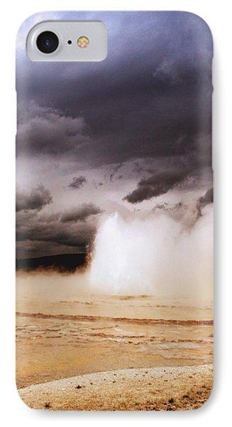 Landscapes Of Yellowstone - Great Fountain Geyser Phone Case by Ellen Heaverlo