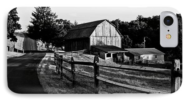 Langus Farms Black And White Phone Case by Jim Finch