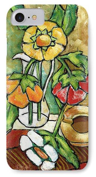 Large Flowers IPhone Case by Rachel Hershkovitz