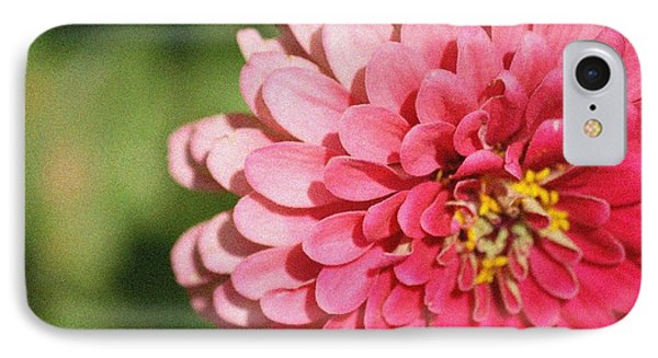 IPhone Case featuring the photograph Large Pink Zinnia by Donna  Smith