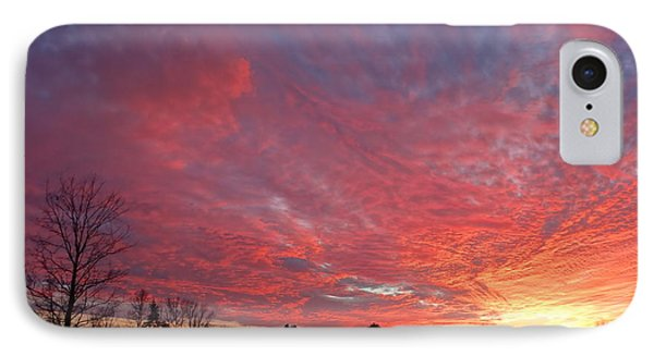 IPhone Case featuring the painting Lascassas Sunset One by Carol Berning