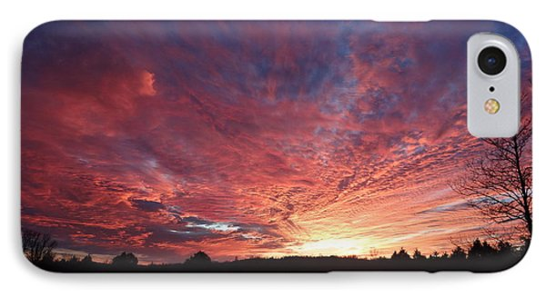 IPhone Case featuring the painting Lascassas Sunset Two by Carol Berning