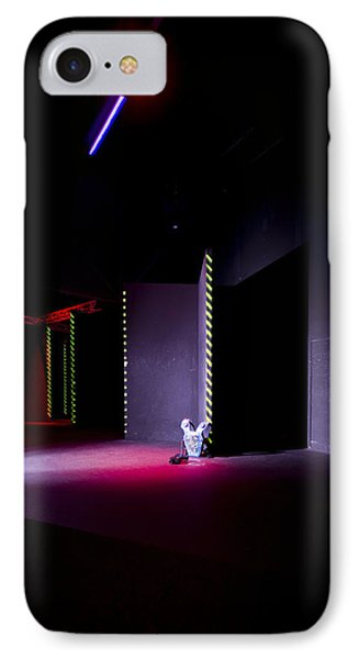 Laser Game Playing Space With Narrow IPhone Case by Corepics