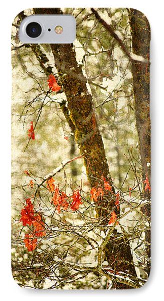 Last Leaves Clinging Phone Case by Bonnie Bruno
