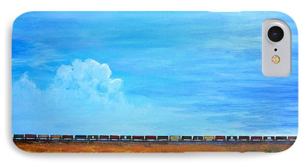 Late Afternoon Freight Train IPhone Case by Kathryn Barry