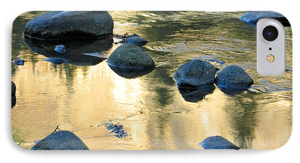 Late Afternoon Reflections In Merced River In Yosemite Valley Phone Case by Greg Matchick