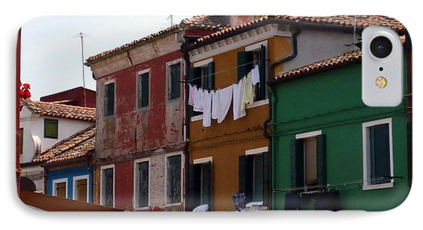 Laundry Day In Burano Phone Case by Carla Parris