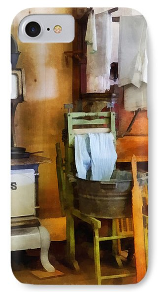 Laundry Drying In Kitchen Phone Case by Susan Savad