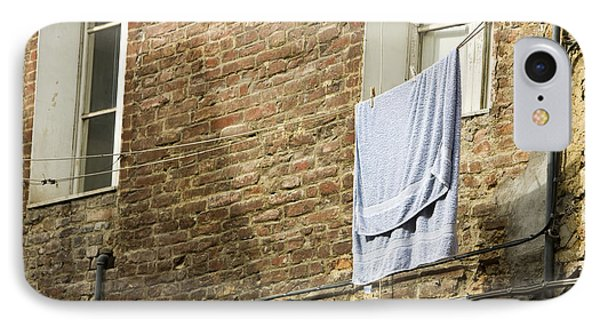 Laundry Hanging From Line, Tuscany, Italy IPhone Case