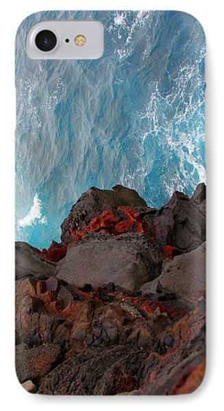 Lava Rocks And Ocean Water Phone Case by Jennifer Bright