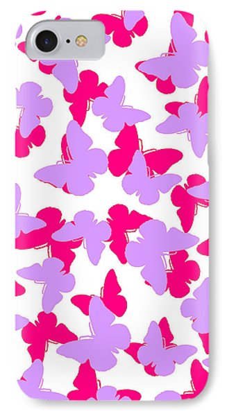 Layered Butterflies  Phone Case by Louisa Knight