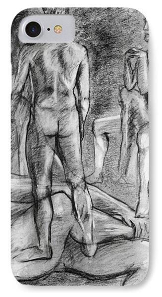 Layered Man Figure Study Phone Case by Adam Long