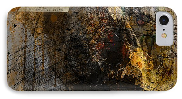 Layered Realities Abstract Composition Painting Print IPhone Case