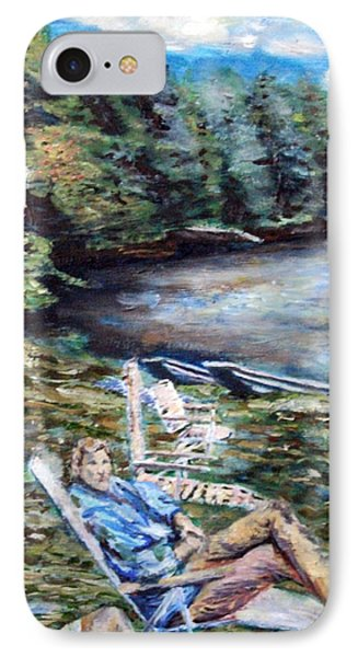 IPhone Case featuring the painting Lazy Day On The Mill Pond by Denny Morreale