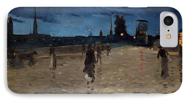 Le Pont De Pierre Phone Case by Charles Angrand
