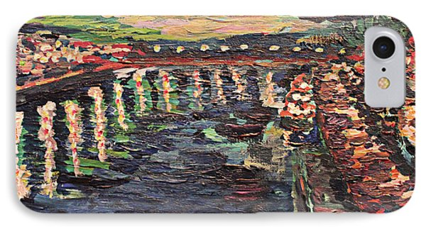 IPhone Case featuring the painting Le Seine De Nuit by Denny Morreale