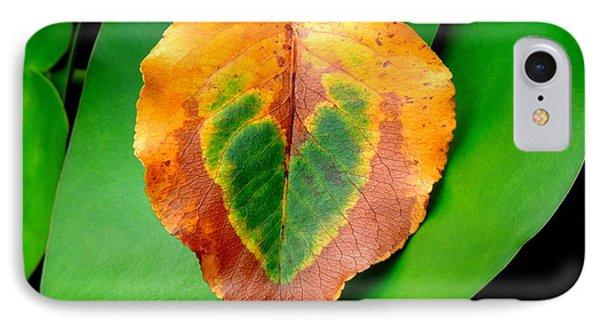 Leaf Leaf Heart Love Phone Case by Renee Trenholm