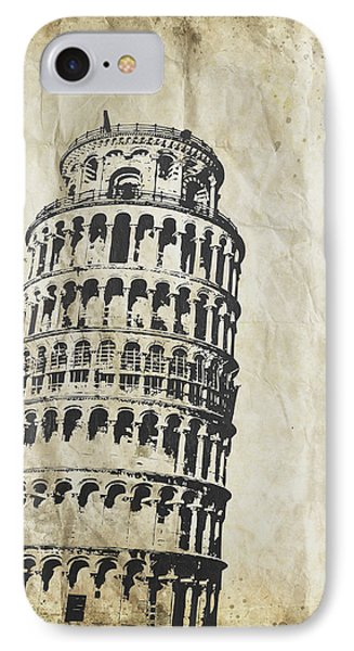 Leaning Tower Of Pisa On Old Paper Phone Case by Setsiri Silapasuwanchai