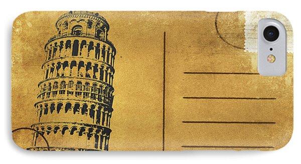 Leaning Tower Of Pisa Postcard Phone Case by Setsiri Silapasuwanchai