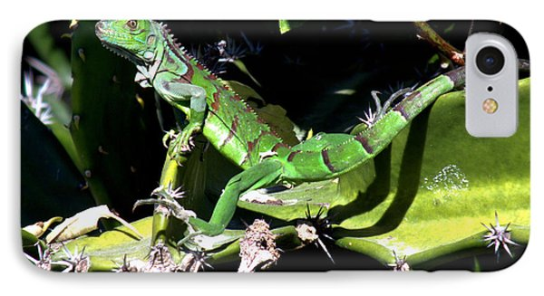 Leapin Lizards Phone Case by Karen Wiles