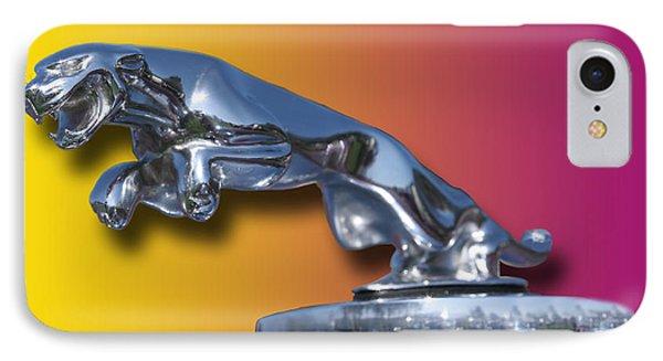 Leaping Jaguar Mascot Phone Case by Jack Pumphrey
