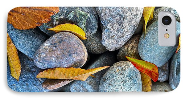 IPhone Case featuring the photograph Leaves And Rocks by Bill Owen