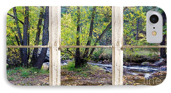 Left Hand Creek Rustic Window View Colorado Phone Case by James BO  Insogna