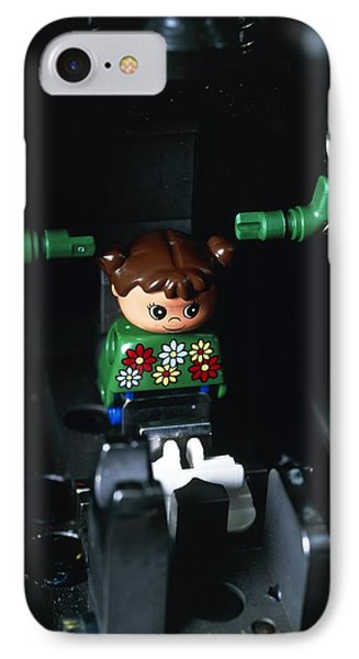 Lego Doll In An Assembly Machine Phone Case by Volker Steger