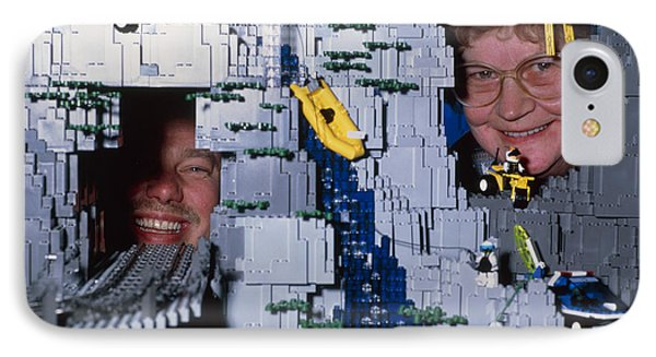 Lego Model And And Its Constructors Phone Case by Volker Steger
