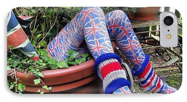 Legs In Flowerpot IPhone Case by Natasha Futcher