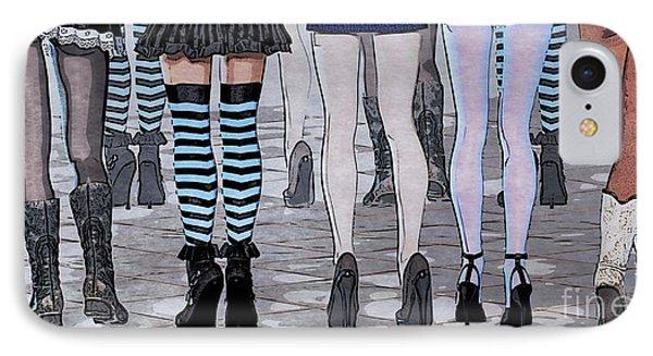 Legs Phone Case by Jutta Maria Pusl