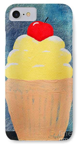 Lemon Cupcake With A Cherry On Top Phone Case by Andee Design