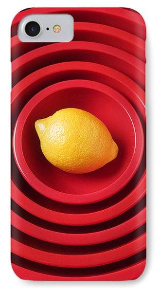 Lemon iPhone 7 Case - Lemon In Red Bowls by Garry Gay