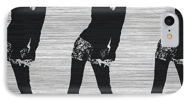 Lena In Dark IPhone Case by Naxart Studio