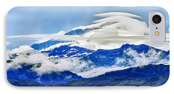 Lenticular And The Chugach Mountains IPhone Case