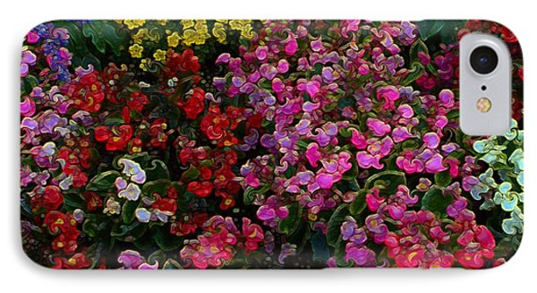 IPhone Case featuring the mixed media les fleurs II by Terence Morrissey