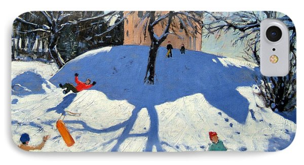 Les Gets IPhone Case by Andrew Macara
