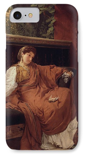 Lesbia Weeping Over A Sparrow Phone Case by Sir Lawrence Alma-Tadema