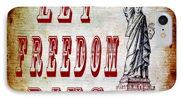Let Freedom Ring Phone Case by Angelina Vick