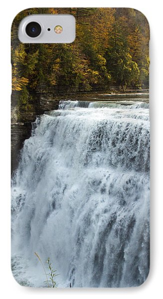IPhone Case featuring the photograph Letchworth Middle Falls by Darleen Stry