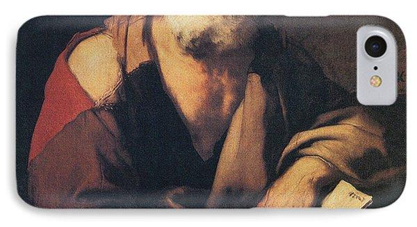 Leucippus, Ancient Greek Philosopher Phone Case by Science Source