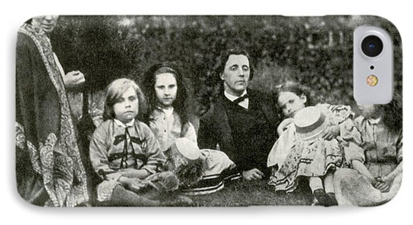 Lewis Carroll, Mrs. George Macdonald & IPhone Case by Photo Researchers