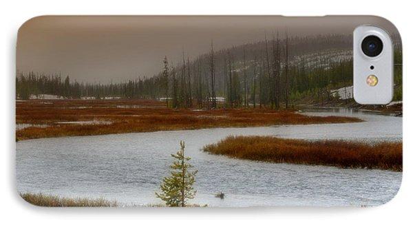 Lewis River - Yellowstone National Park Phone Case by Ellen Heaverlo
