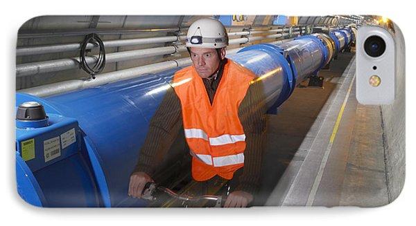 Lhc Tunnel, Cern Phone Case by David Parker